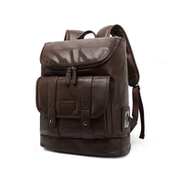 fashion PU leather sports travel bag backpack