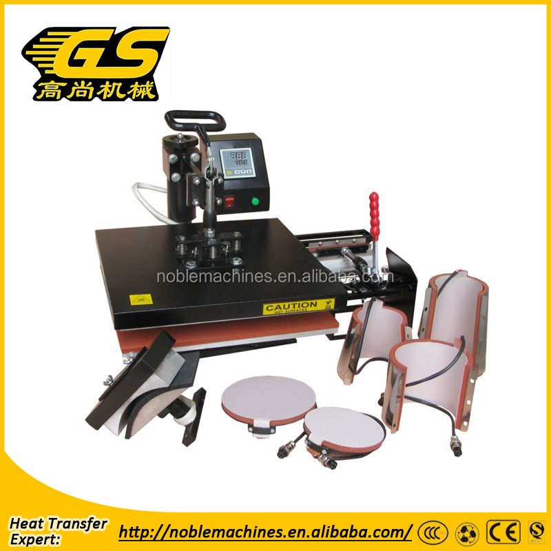 Heat Press Pro 6in1 Combo Heat Press Machine Digital Multifunction Transfer Sublimation T-Shirt /Mug /Hat /Plate