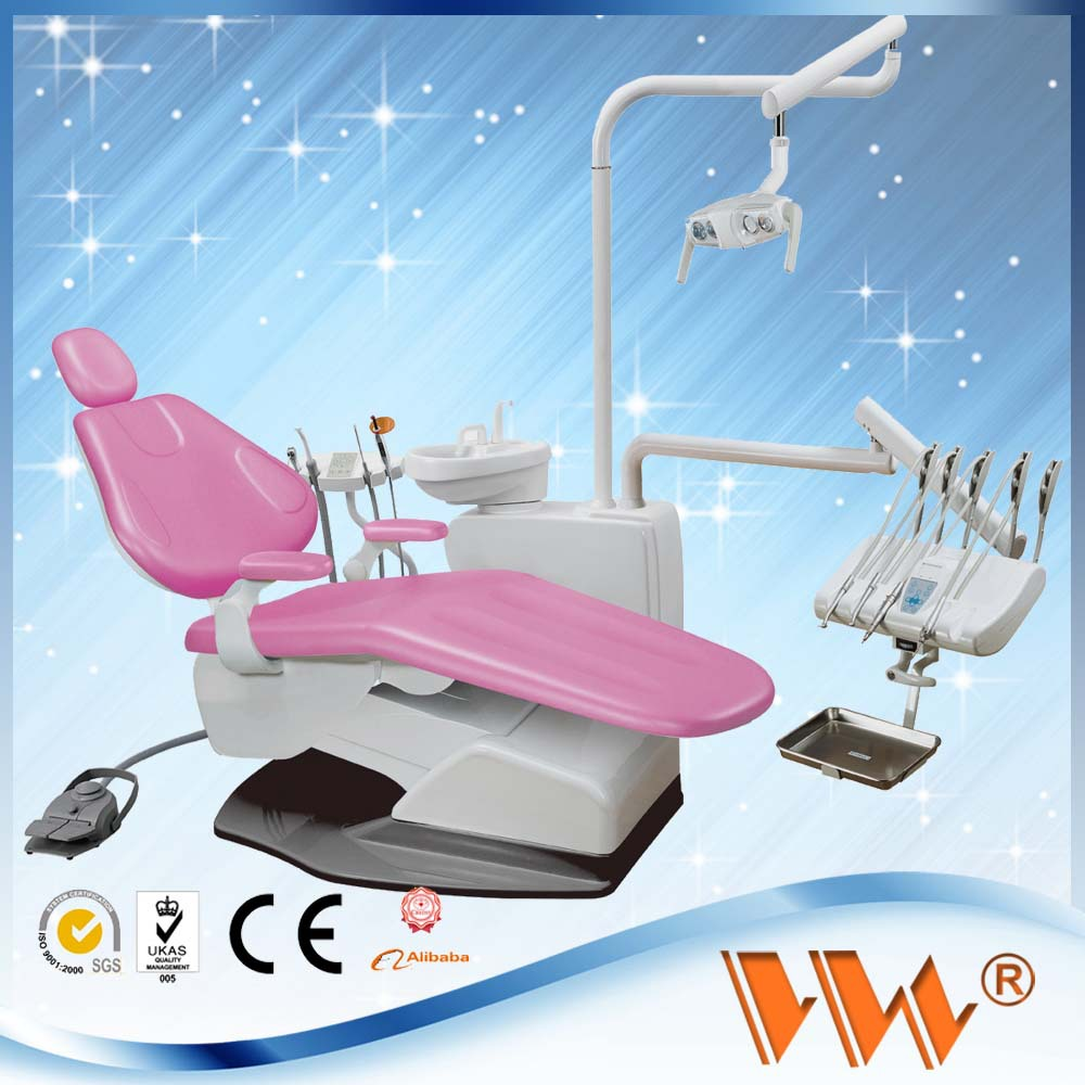 top quality hot sell dental chair with top mounted with super materail