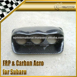 For Subaru Impreza GD Carbon Fiber Dash Mount Triple Gauge Pod