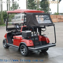 2 seats solar powered electric golf cart