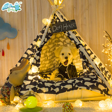 Hot Sale Factory Customized Pet Teepee/wooden Style Pet House Indoor Dog Teepee
