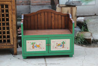 Antique Furniture-Children Day Bed with Cabinet Underneath