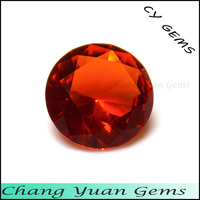 4.00mm Round shape orange color wholesale glass gems