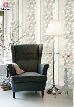 For embossed geometry wallpaper to make the television background