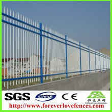 Galvanized PVC coated ornamental wrought iron fence ornaments / palisade fence aluminium fence on Alibaba