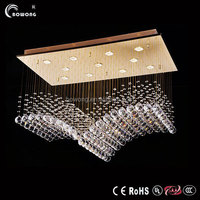 new modern crystal led chandelier lighting for living room,colored glass chandeliers