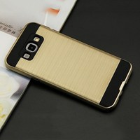 Cheapest Price Free Sample Wire Drawing Retro Phone Case For SUMSUNG 7106