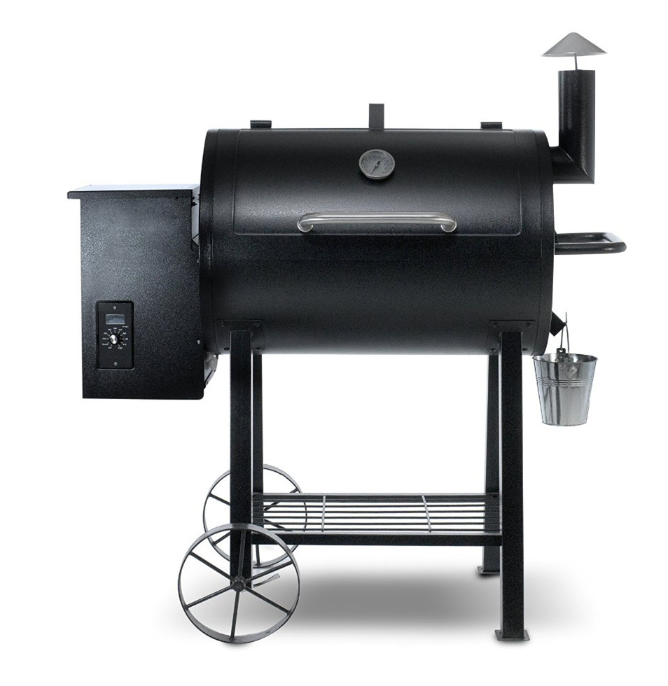 powder coated wood pellet smoker grill bbq grill for outdoor cooking buy powder coated wood. Black Bedroom Furniture Sets. Home Design Ideas