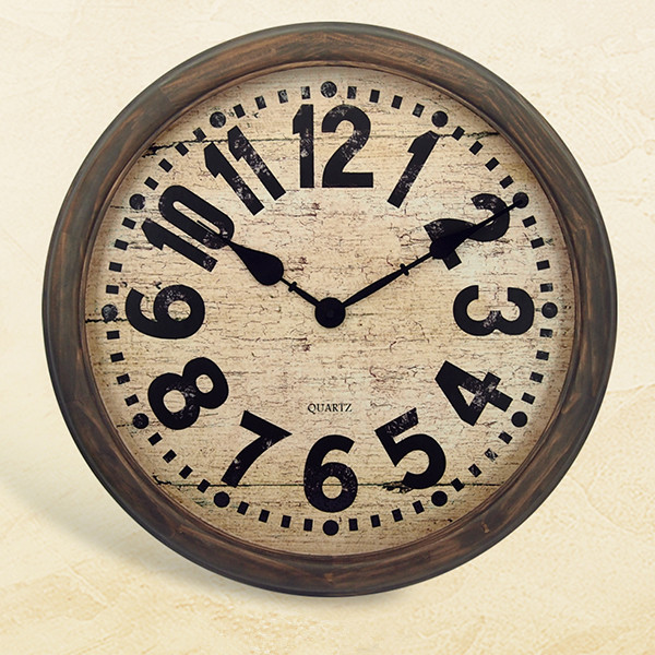 Promotional High Quality Cheap Gift Ajanta Models Vintage Wall Clock with Wood Framed