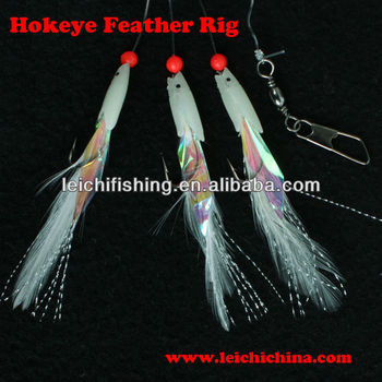 Hokeye feather sabiki rigs sea fishing rig buy sea for Sabiki rig fishing