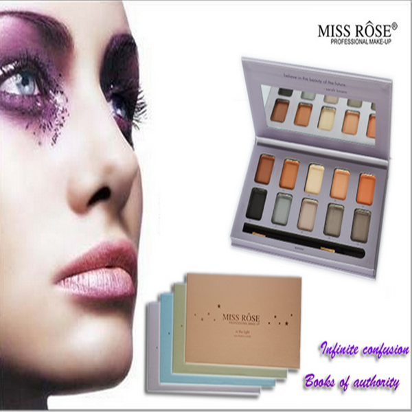 Best Quality Brand Cheap Miss Rose Cosmetics Makeup Eyeshadow Palette With 10 colors
