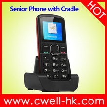 PS-V708 1.77 Inch Screen Single SIM Card Big Button SOS Senior Phone with charger dock CE & RoHS Certificates passed