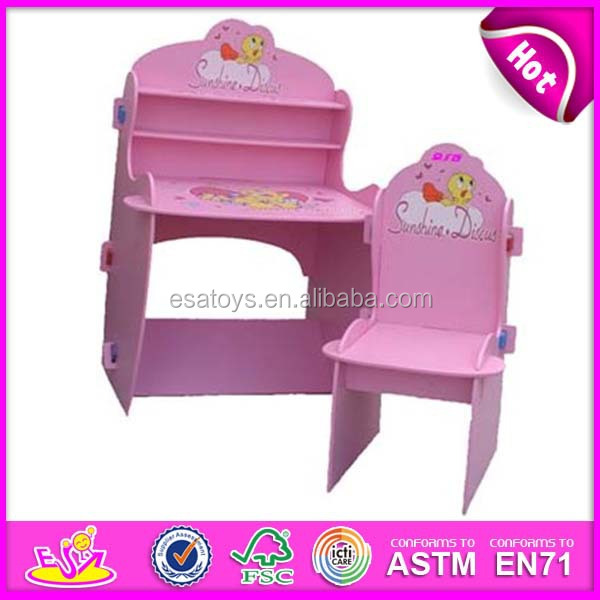 Lovely Student Table And Chair For Kids Wooden Toy Wood Dressing Children