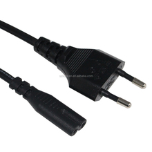 AC Power Extension Cable Euro Male 2 Pin Plug to IEC C7 Female Socket