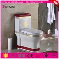 Chaozhou Manufacturer Hot Sale Sanitary Ware Ceramic 4 Inch Outlet Washdown One Piece Color Toilet Bowl WC Toilet