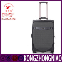 External suitcase-type leather travel bag, fashion trolley travel luggage bags for everyone, waterproof big bag with trolley