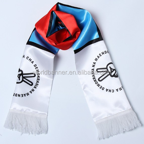 Custom football digital print custom design silk scarf