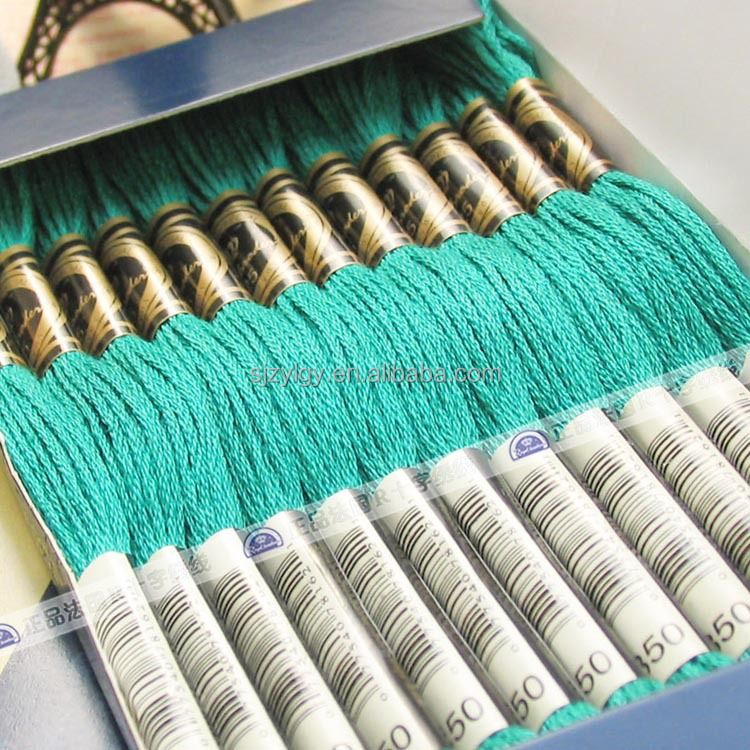 High quality cotton dmc embroidery floss 12 strands/box