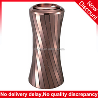 Luxury Tower shape copper ashtray lobby decorative environmentally friendly dustbin, beautiful trash can