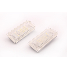 2pcs/lot 18LED 3528SMD LED Germany Car License Plate Light Lamp For Mini Cooper Bright White energy-saving light