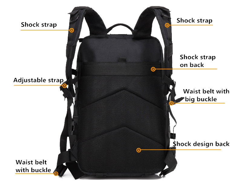 Hot sale  large capacity military backpack waterproof  tactical military backpack