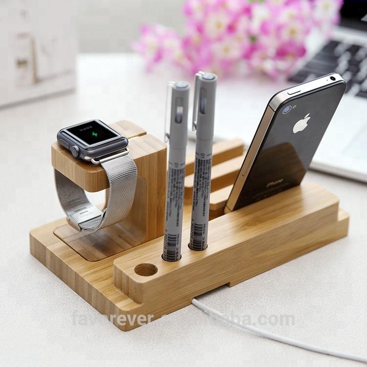 holz ladestation docking ladestation f r iphone und handy. Black Bedroom Furniture Sets. Home Design Ideas