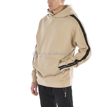 Wholesale OEM/ODM Men Blank Hoodies with Zippers Pullover Casual Blank Hoody