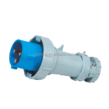 International standard blue color electric plug use in industry