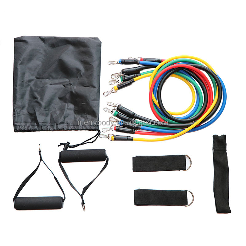 RESISTANCE BANDS SET 11 PIECE EXERCISE KIT FOR EXERCISE