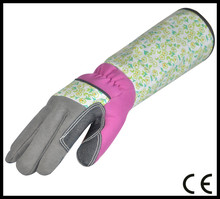 High quality Long Cuff Textured PVC patch Protection Work Glove