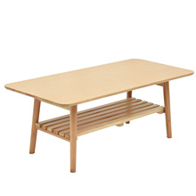 Custom fashion double-decker wooden coffee table for home/store