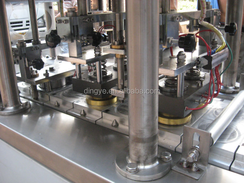 CFD Series Fully Automatic Cup Filling and Sealing Machine (For Four cups) Pneumatic type for big capacity