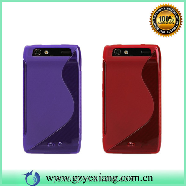 Candy Color TPU Protective Case Cover For Motorola Razr XT910