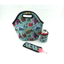 Resuable lunch box neoprene lunch tote bag