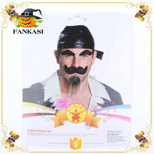 Hot Sale Pirate Fake Mustache and Eyebrow Kit for Party