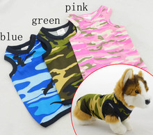 Dog Clothing Wholesale Small Dog Sweet-heart neck Camo tank