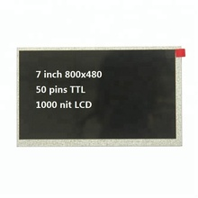 High brightness 800x480 1000 nit lcd 7 inch
