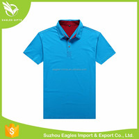 Cotton Color Combination Collar Design Towel Polo Shirt