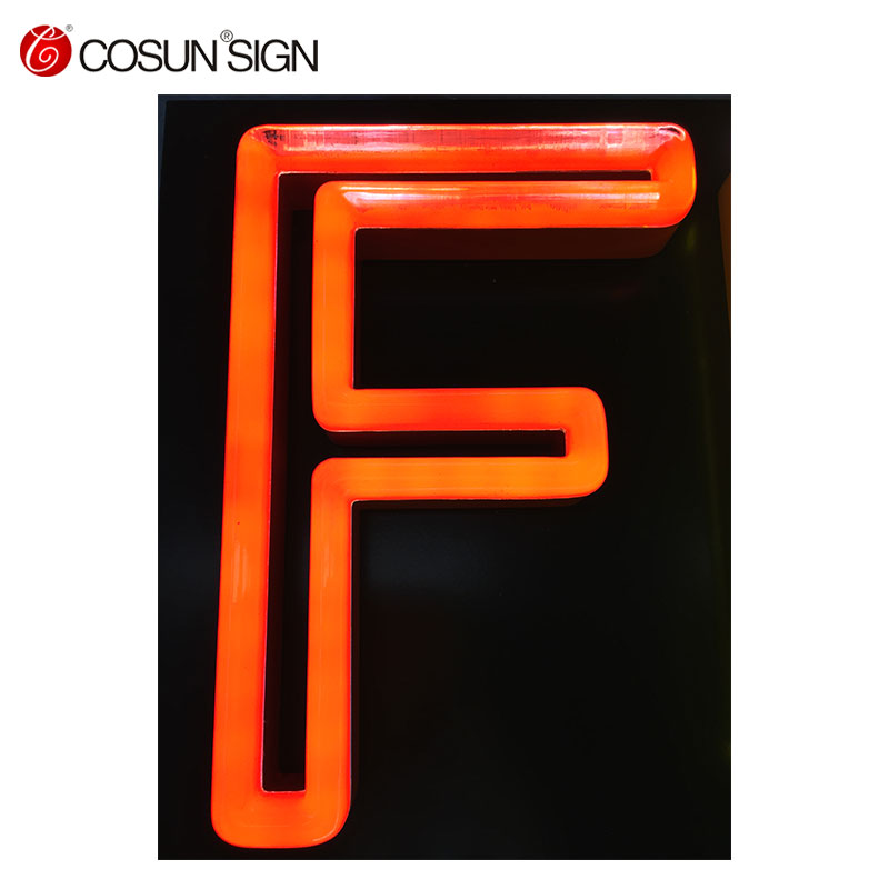 2018Popular neon letter lights sign, neon alphabet letter sign