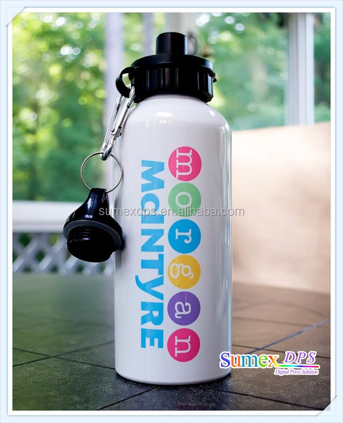 400ml Sublimation Blank White Color Aluminum Water Bottle with Double Cap