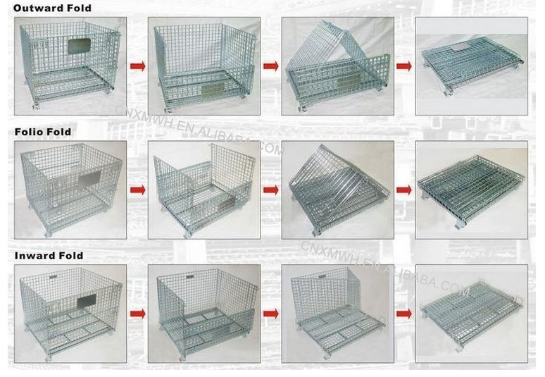 Pallet Cage Collapsible Wire Mesh Container Stillage