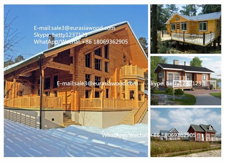 Luxury Prefab Villa Chalet Wooden House Log Cabin Kit Set
