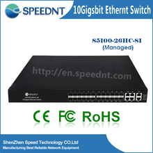 Hardware & Software Network Switches Switch Computer Switch 24 Port Sfp fiber switcher