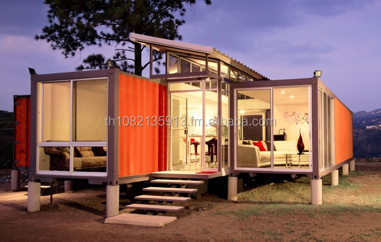 Container Homes Modern Design Eco House 20ft 40 ft Multi Level House Steel Frame Casa Modular Container Strong Building