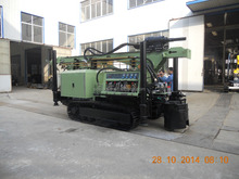 high efficiency DTH and rotary crawler-mounted borehole water well drilling machine SLY550