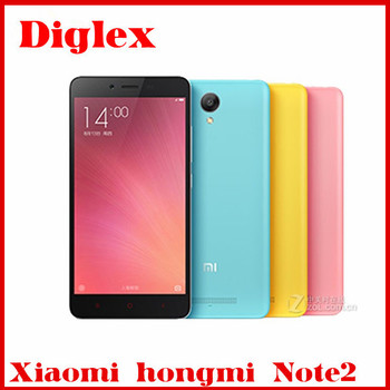 New Original Xiaomi Phone Hongmi Note 2 MTK helio X10 Octa core 2.0GHz 2GB+16GB MIUI 7 Android 5.0 Redmi Note 2 4g lte smartphon