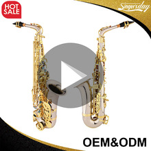 High Grade OEM cheap white copper alto saxophone / saxofon alto