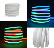 Rainbow color changing led rope strip light 5050 waterproof 12v mini led neon flex light