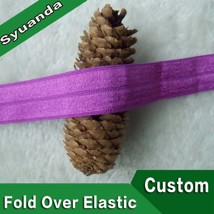 eco-friendly wholesale custom nylon fold over elastic ribbon
